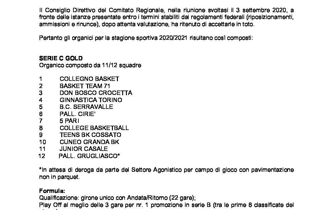 cu n.7 mod. campionati regionali senior e giovanili eccellenza 2020-2021