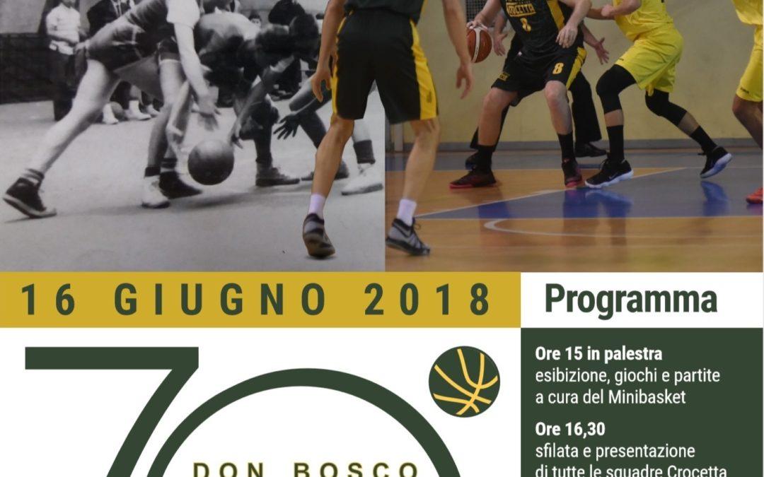 UNA SETTIMANA ALLA GRANDE FESTA PER I 70 ANNI DI BASKET ALL'ORATORIO SALESIANO CROCETTA