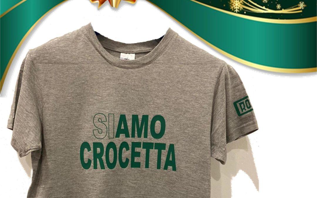 'GREEN&GOLD CHRISTMAS '19', LA T-SHIRT 'SIAMO CROCETTA'
