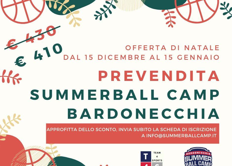 SUMMER BALL CAMP BARDONECCHIA '20, CHIUDE OGGI LA PREVENDITA